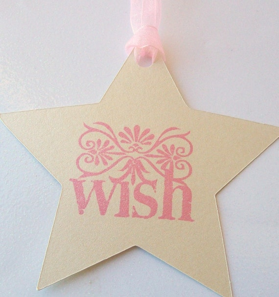 Wishing Tree Tags - Wedding - Shower - Baby - Stars with a Wish (set of 50)