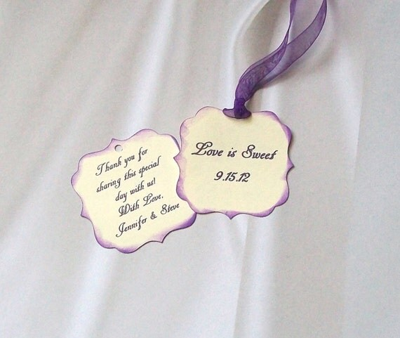 Wedding Reception - Sweet 16 - Quinceanera - Birthday - Anniversary - Favor or Treat Tags - Double Sided and Personalized (50)