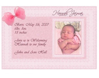 Personalized Photo Birth Announcement Digital Design