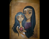 Clearance SALE - Original Greek Mythology Art Painting - Hades and Persephone