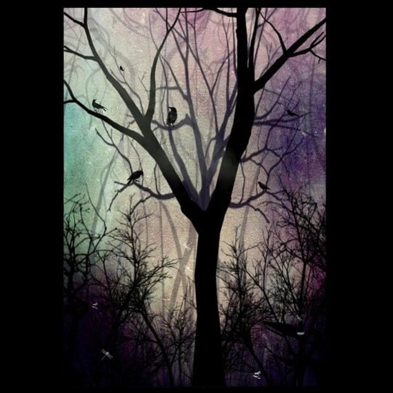 Art Twilight Twilight Dark Art Tree