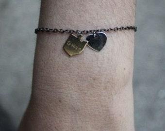 I Love My State Charm Bracelet - long distance love bestfriend bff jewelry college gift idea