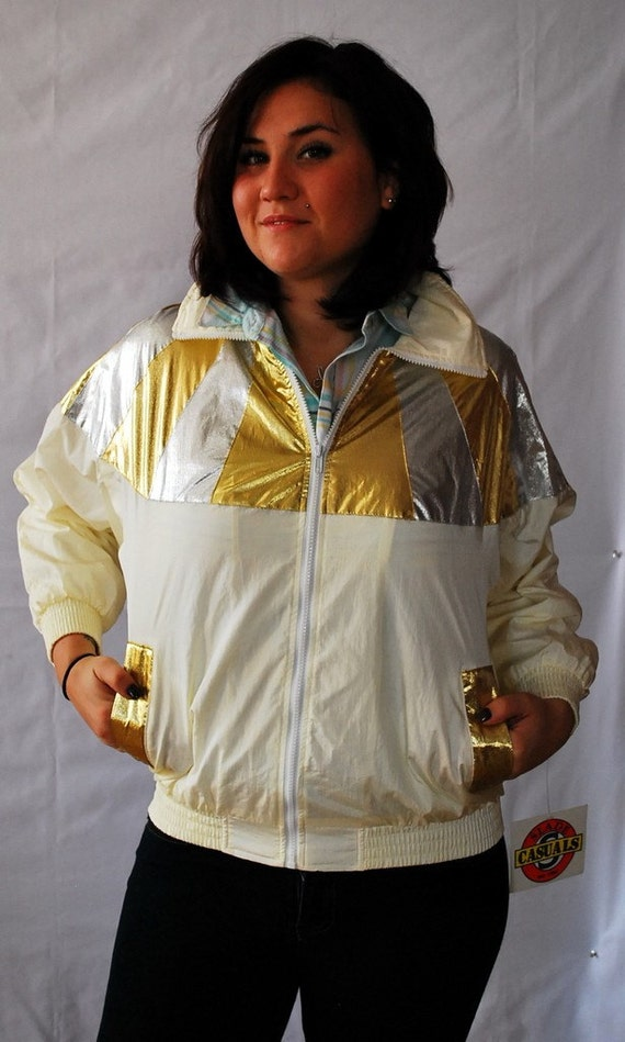 Silver and Gold - Flashy 90s Sportcoat