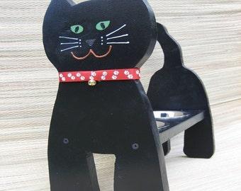 Raised Cat Bowl, Cat Feeder, Cat Dish, Handmade, We Make It Look Like Your Cat