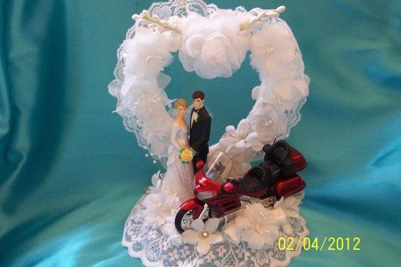 Honda Goldwing Motorcycle Wedding Cake Topper 02 Red Honda
