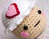 Amigurumi Vanilla White Cupcake