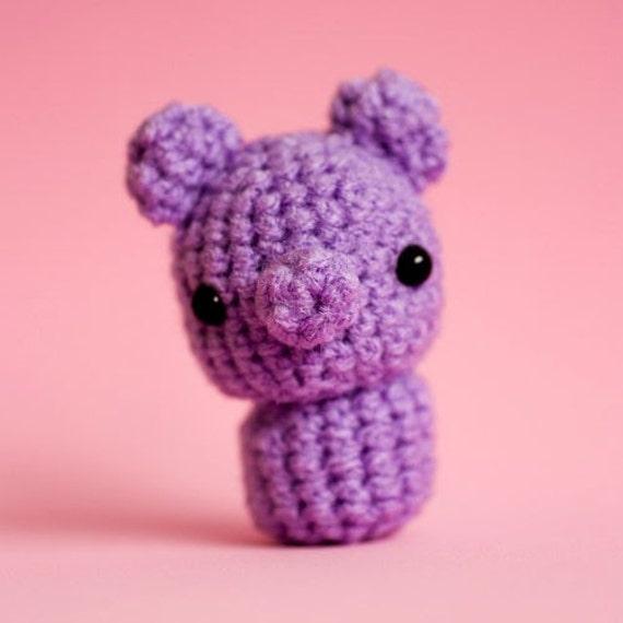 Amigurumi Kawaii Purple Petite Pig