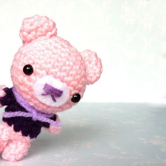 Amigurumi Kawaii Pink Bear