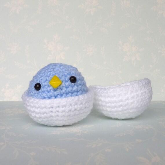 Amigurumi Blue Baby Bird