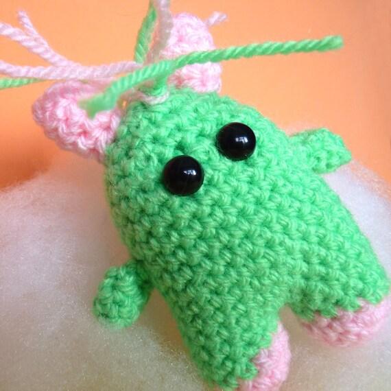 Amigurumi Green and Pink FizzyBun
