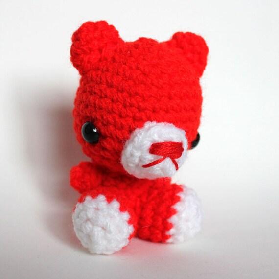Amigurumi Kawaii Red Bear