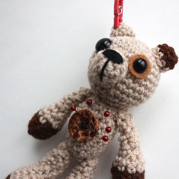 Billy the Amigurumi Light Brown Voodoo Bear