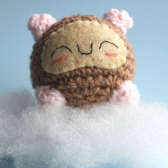 Amigurumi Brown Sleeping Hamster Squishling