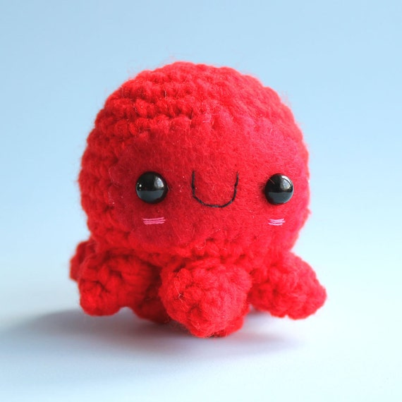 Amigurumi Red Octopuss Squishling