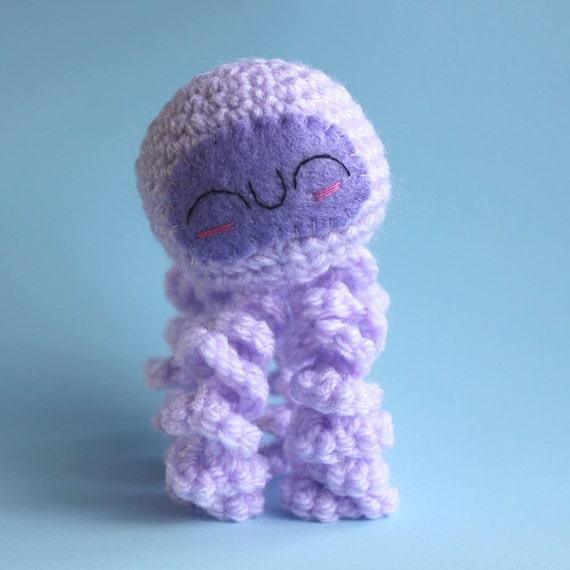 Amigurumi Jellyfish : Amigurumi Purple Jellyfish Squishling by cutedesigns on Etsy
