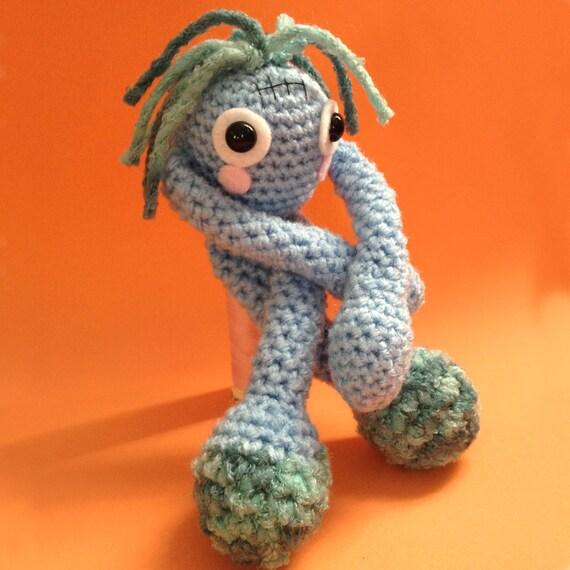 Amigurumi Little Blue Monster Spook