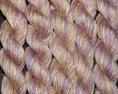 Beautiful Handpainted Silk Cord Thread - Pansy