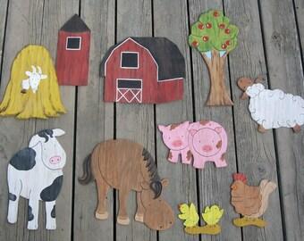 FARM Kids Wood Wall Art - Original Hand Painted