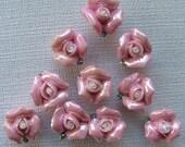 Ceramic Rose Buttons
