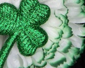 Rockabilly Flower Hair clip Lucky  Shamrock Carnation St. Pattys Day