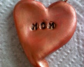 Mom Love clay Necklace pendant  - sale