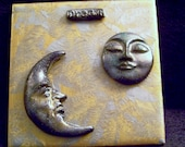 Dreaming with the moons  tile wall hanging