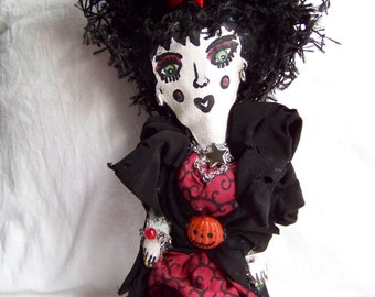 Eve the vampire- gothic art doll
