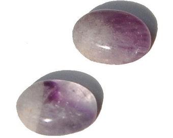 Variegated Purple Cape Amethyst Cabochons 6 X 8mm