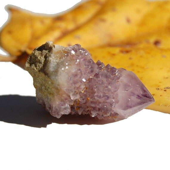 Amethyst Cactus Quartz Large Focal Stone Covered in Sparkly Crystals for a Ring or Pendant (Number 26)