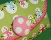 Happy Happy Joy Joy Snowmen Wristlet