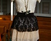 Lacey Layered skirt in black and creams