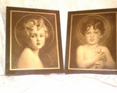 Vintage 1920s paintings Light Of The World by C.B.Chambers