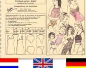 LAST ONE pattern & booklet BASIC for all kind of Lingerie by Merckwaerdigh