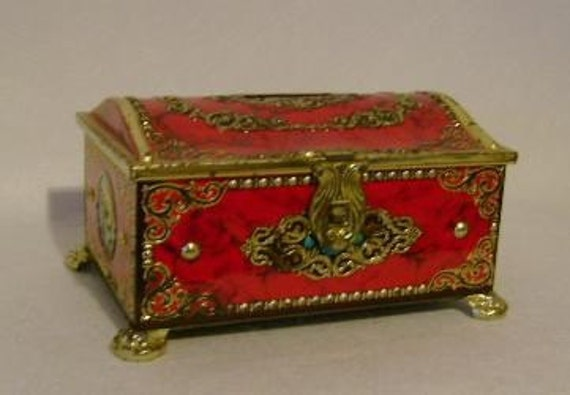 Vintage Aarita Treasure Chest Bank Candy Tin West By Ustabee