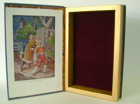Hollow Book Myths and Legends Keepsake Box from Vintage Book Cover Mystical Magical Childrens Wooden Book box groomsman gift