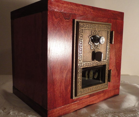 Cherry Brass Amp Wood Safe With Vintage Brass Usps Door Post