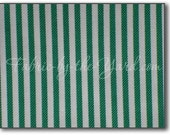 RESERVED Michael Miller 2.5 yard of Tick Toc stripe in green and white by FabricbytheYard WAS 9.00 NOW 4.50