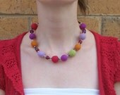 Curious Andale felt and button necklace