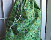 Layla Project Bag - Medium - Green Swirls