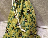 Layla Project Bag - Medium - Owls in Trees