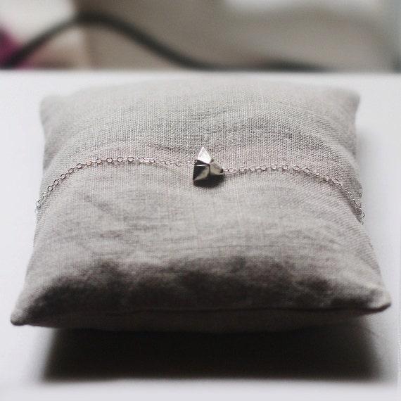 tomoko - silver origami necklace by elephantine