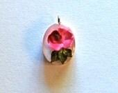 Vintage Lucite Flower Charm or Pendant