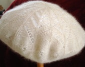 French beret - hand-knitted cashmere