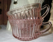 Set of Two Pink Depression Cups