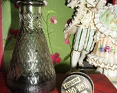 OLD ESQUIRE LANO SHOE WAX GLASS BOTTLE WITH ORIGINAL BRUSH LID