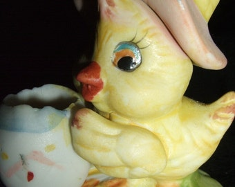 Vintage Easter Duck Figurine