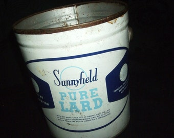 VINTAGE SUNNYFIELD PURE LARD TIN
