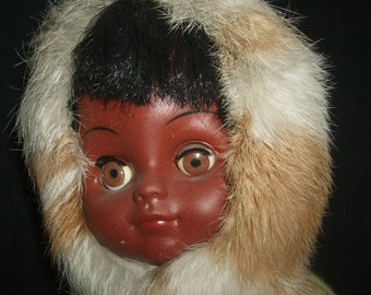 Vintage Indian Art Eskimo Doll