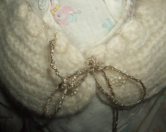 Vintage Knitted Child's Collar