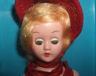 1950's Doll in Hard Plastic Case